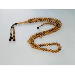 Chapelet / Tasbih en bois d'olivier 99 perles