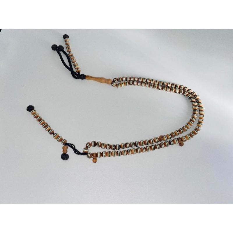 Petit Chapelet / Tasbih en bois d'olivier 99 perles